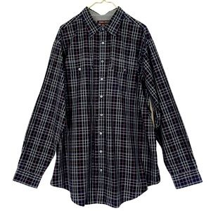 Michael Kors Black Red Plaid Button Dress Oxford